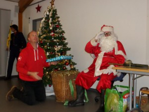 Le père Noël et son lutin