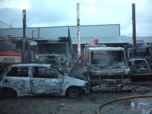 Incendie Véhicules 2003